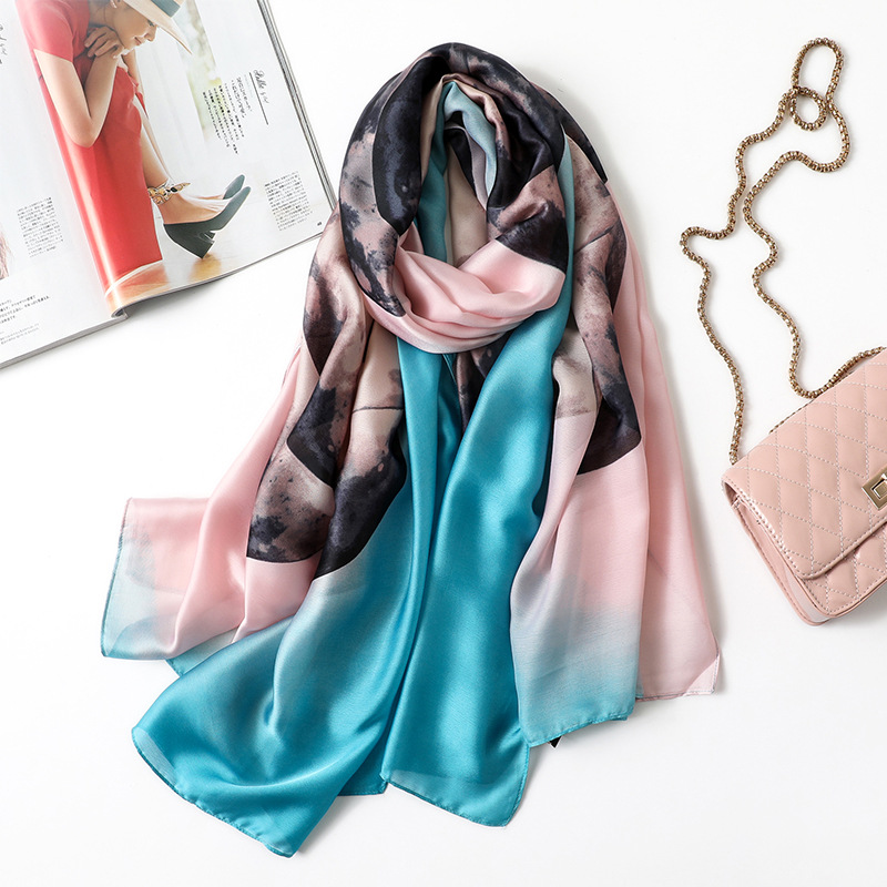 new beach   scarf   women   wrap   female shawl summer fashion pareo classic chiffon bandanna ladies muffler foulard   scarves   muffler