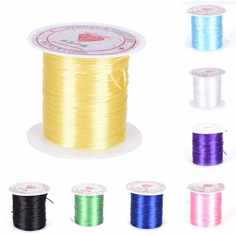 Transparen Clear Component Round Beading Wire/Cord/String/Thread Jewelry Making 0.8mm Crystal Bead Stretch Cord Elastic Line