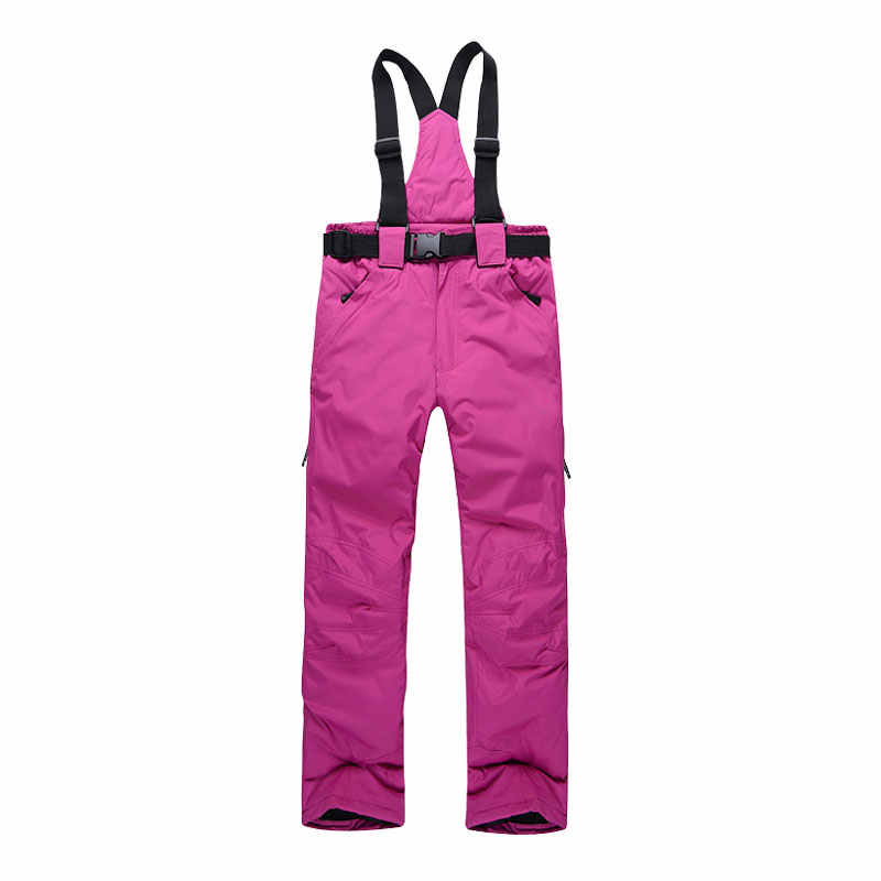 スキーパンツ男性と女性の屋外高品質防風防水暖かいカップル雪ズボン冬スキースノーボードパンツブランド