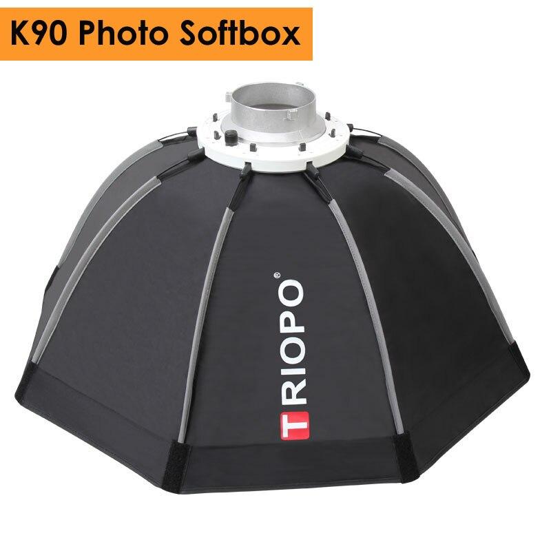 Triopo 90 cm Photo Portable En Plein Air Bowens Mont Octogone Parapluie Soft Box avec Sac de Transport pour Studio Vidéo Photographie Softbox