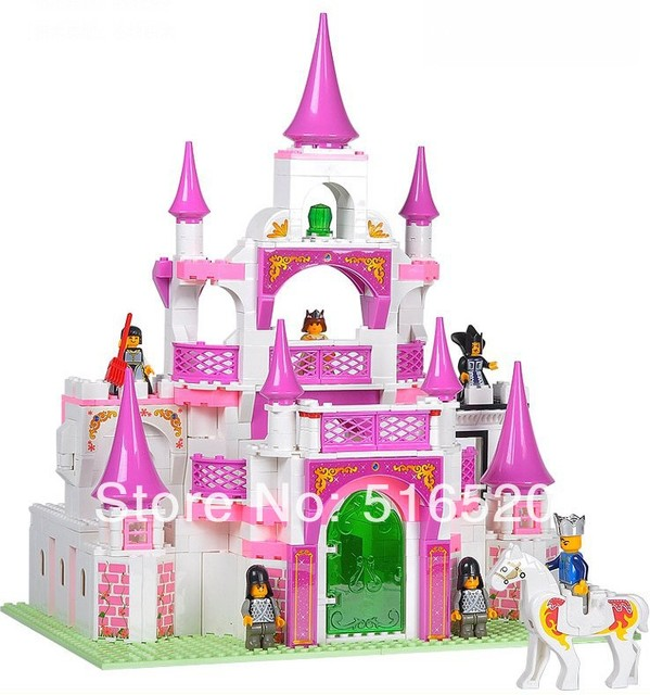 Toy Castle Show : Aliexpress buy sluban pink dream series castle