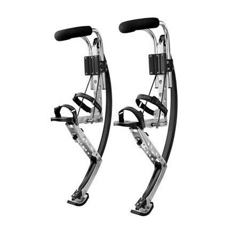Skyrunner For Adult Black Weight: 110~150 lbs/50~70kg Men Jumping Stilts line art