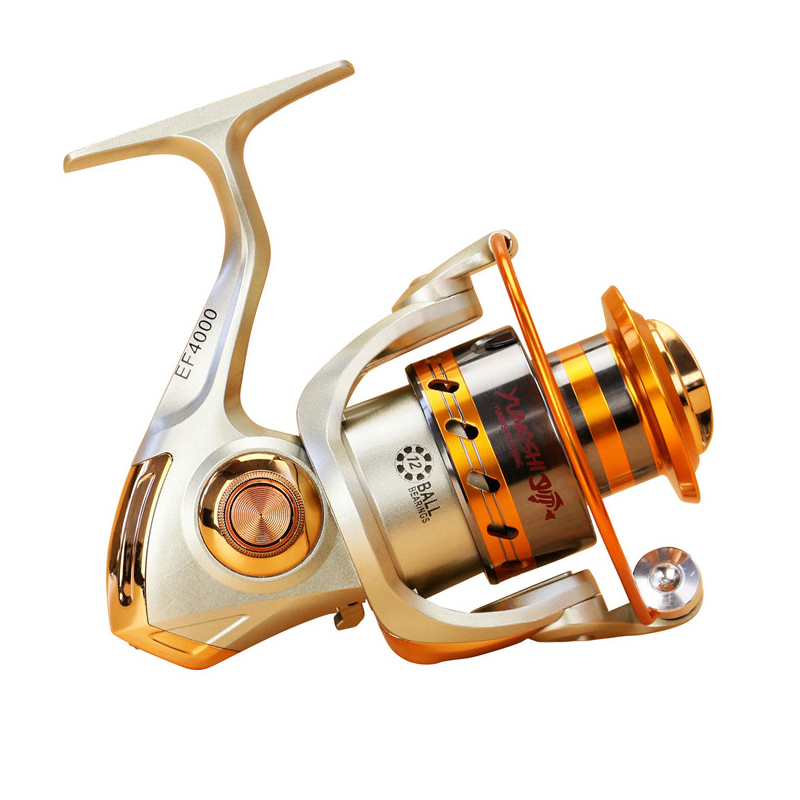 2018 Gapless Spinning Fishing Reel 13BB JF1000-7000 5.5: 1 Metal Carp - Memancing - Foto 4
