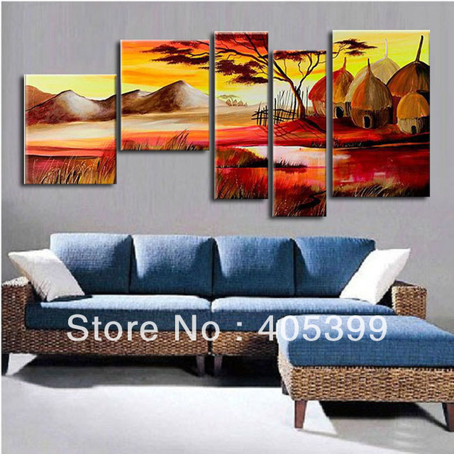 Free Shipping !! The Africa Hut!!   Real Handmade Modern Abstract  Oil Painting On Canvas Wall Art ,Z032