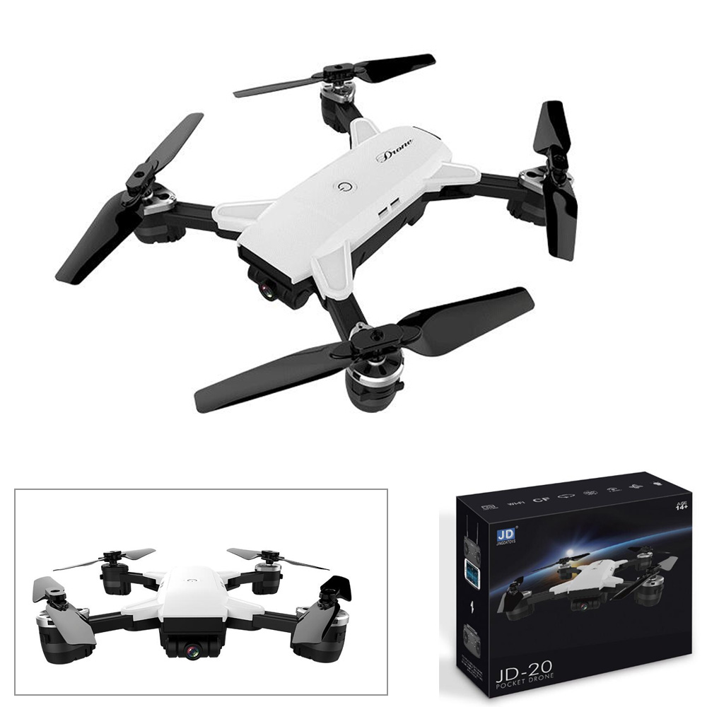 Drones with camera hd JD-20 JD20 WIFI FPV With 2MP Wide Angle Camera High Hold Mode Foldable Arm RC Quadcopter RTF Selfie Drone