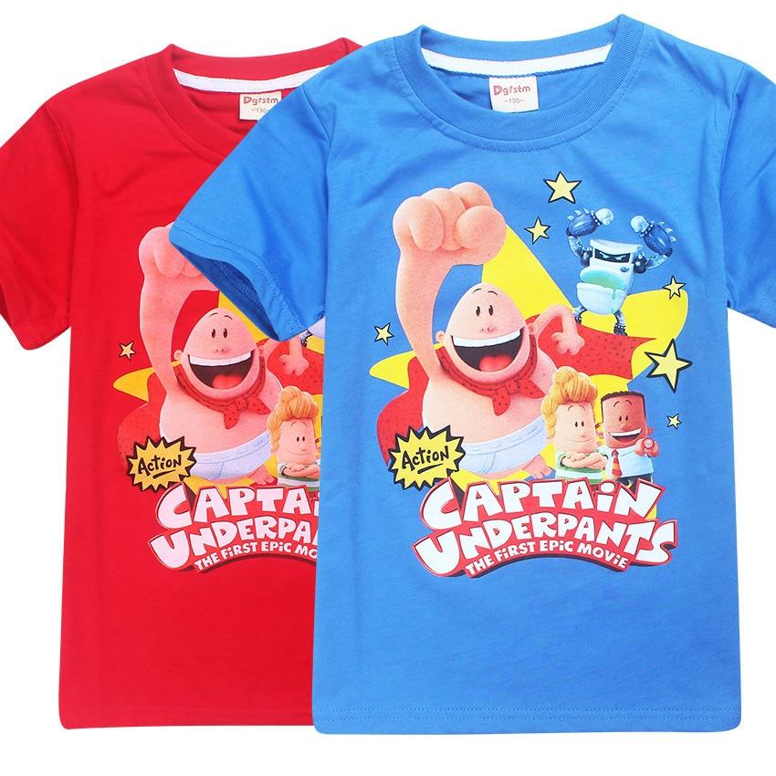 Z&Y 4-12Years Nununu Captain Underpants Tshirt Kids Clothes Tee Shirt Enfant Kinderen T-shirt Jongens Roupas Infantis Menino 289