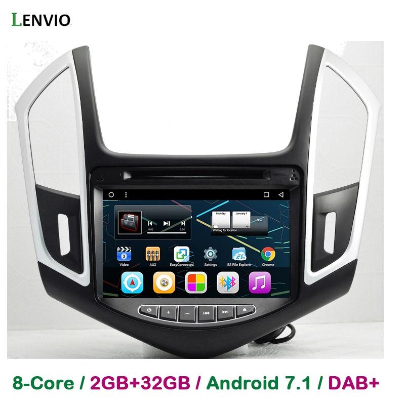 Lenvio RAM 2 GB + 32 GB Octa Core Android 7.1 2 Din voiture GPS Navigation pour Chevrolet Cruze 2013 2014 2015 radio stéréo DVD WIFI DAB +