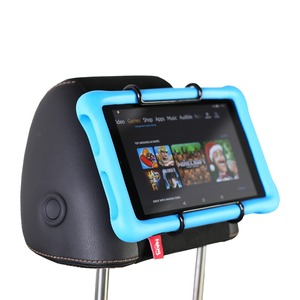 Image 2 - Tylne siedzenie samochodu tabletka zamontować uchwyt na zagłówek dla amazon kindle Fire 7, ogień HD 8, ogień HD 10 dzieci edycja z/bez obudowy