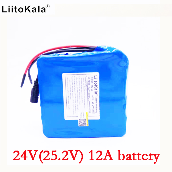 LiitoKala 24v 12ah li-lon battery 25.2v 12ah BMS 250w 24v 350w battery pack for wheelchair motor kit electric power no charger liitokala 7s5p new victory 24v 10ah lithium battery electric bicycle 18650 24v 29 4v li ion battery no contains charger