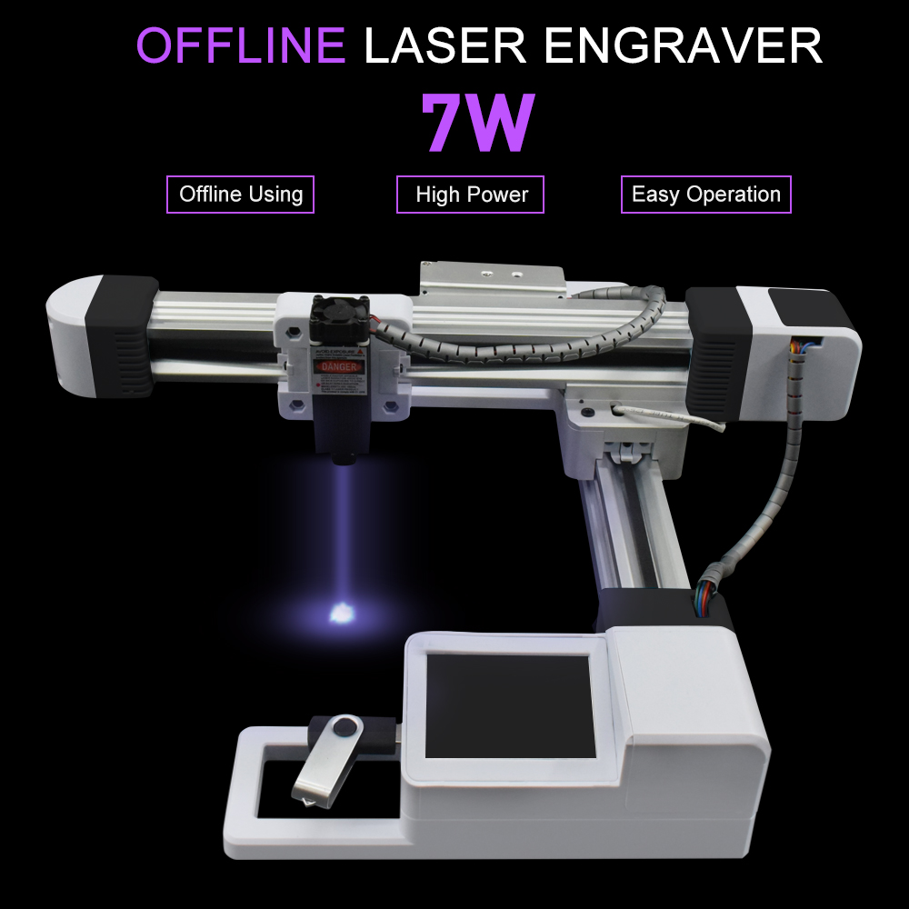 7000MW Wood Router Milling Machine 155MM*175MM Area CNC Engraving Machine 7W 3W Laser Engraving Machine Wood Carving Tools