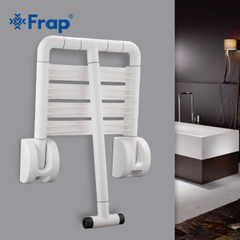 Frap new 1 set Folding Wall Shower Seat Wall Mounted Relaxation Shower Spa Bench Saving Space Bathroom safety chair  F8132