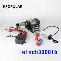 Winch car tuning kabestan elektryczny 2000/3000/4000 lb12v 12m lina stalowa ATV wciągarki na wózek plażowy łódź wciągnik samopomocy Rescue