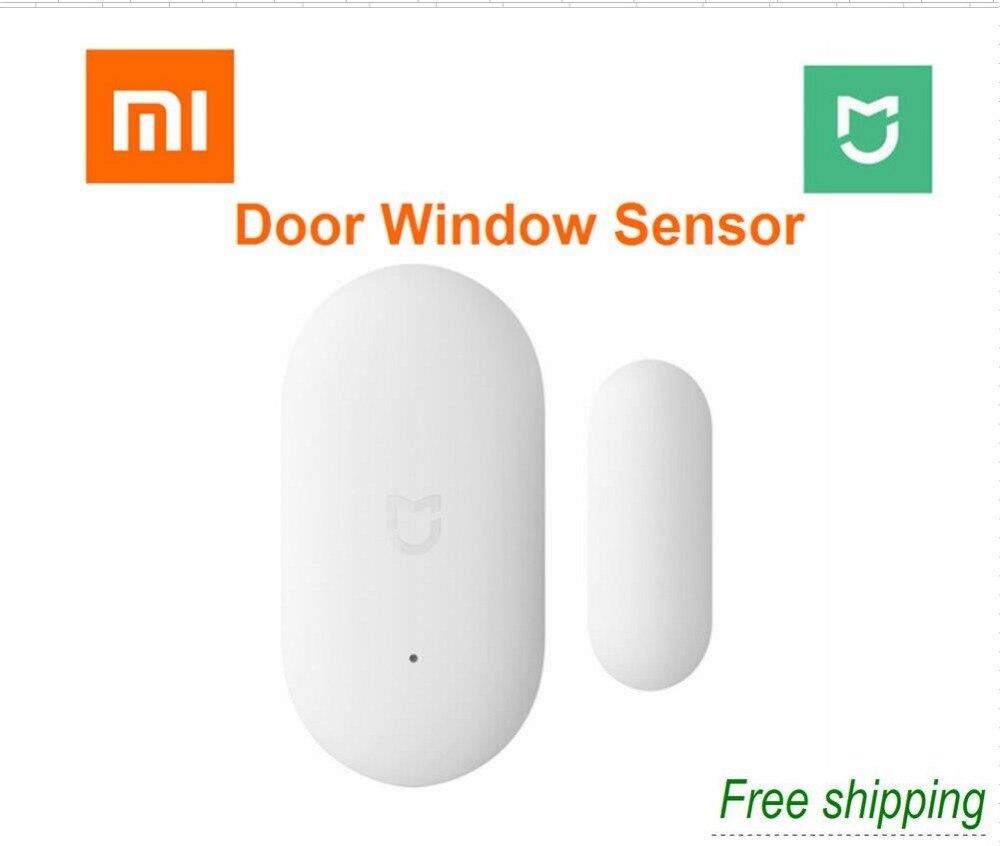 2018 xiaomi puerta de la ventana de tamaño de bolsillo xiaomi casa inteligente Kits de sistema de alarma trabajar con Gateway mi jia mi casa app