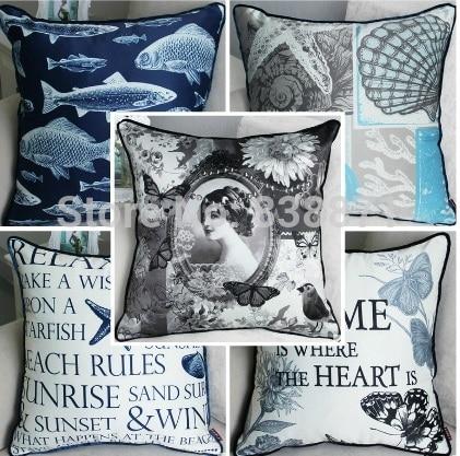 FanBang [] European luxury Mediterranean pillow sofa cushion car cushion cushion wholesale office