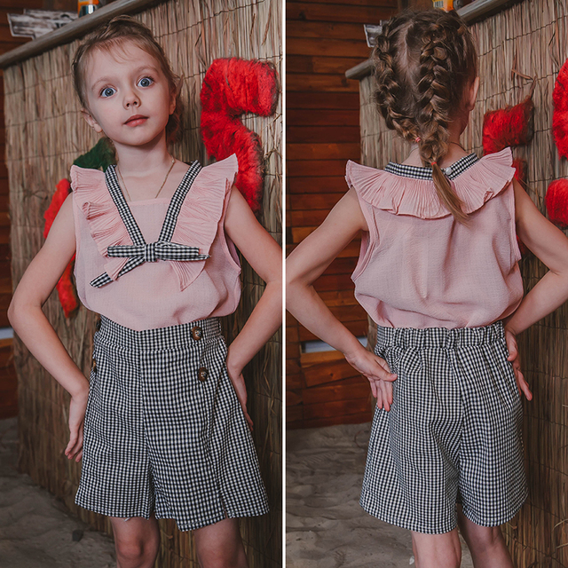 Girls Clothing Sets 2019 Brand Summer Fashion Chiffon short sleeve T-shirt + shorts Infant girls outfits kids clothes roupa infa