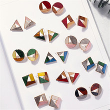 Earrings girl unique for women earrings big style simple Fashion  Hollow out irregular geometry color