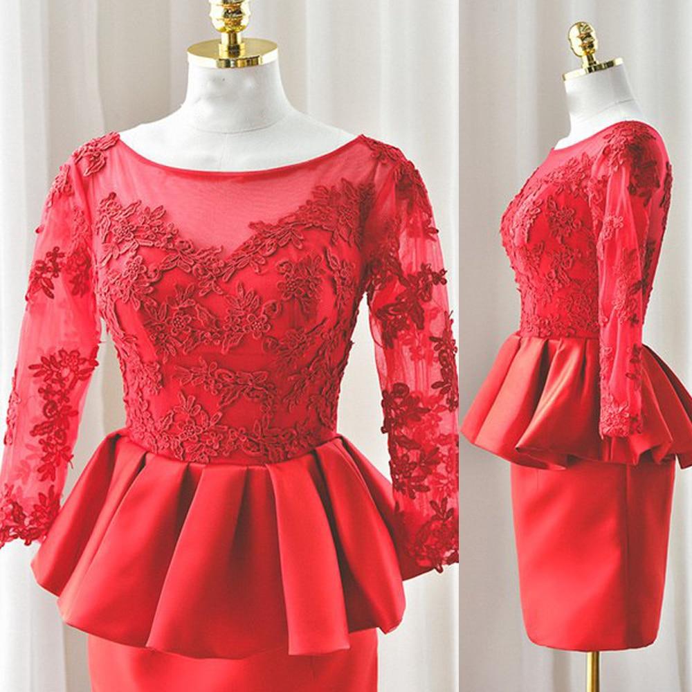 Red short godmother dresses knee length summer formal for Suit dresses for weddings