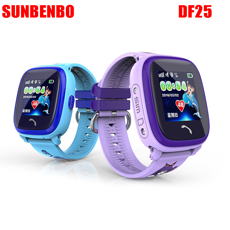 watch Waterproof DF25 kids GPS watch smart baby watch phone SOS Call Location Device Tracker Kids Safe Anti-Lost Monitor pk Q100 smart baby watch q60 детские часы с gps розовые