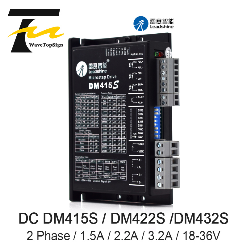 Leadshine 2Phase Stepper Motor Driver DM415S DM422S DM432S Supply Voltage 18-36VDC Current 1.5A 2.2A 3.2A