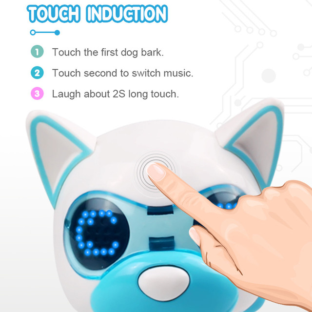 Robot toy dog UInteractive Smart Puppy Robotic Dog LED Eyes Sound Recording Sing Sleep Cute action figure Education D301212 2