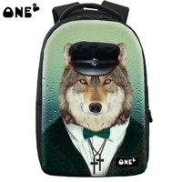 ONE2 Design wolf pattern backpack brand new design laptop backpack high school students teenager boys girls kid children
