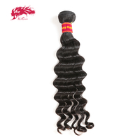 Ali Queen Hair Products Brazilian Hair Natural Wave Bundles 100% Human Remy Hair Weave Natural Color 10 26 Free Shipping