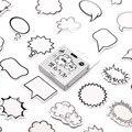 Черно-белые наклейки в виде пузырьков, школьные принадлежности