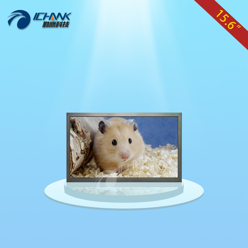 ZB156TN-V591/15.6 inch 1366x768 16:9 BNC VGA HDMI Metal Shell Remote Control Wall-mounted Industrial Monitor LCD Screen Display zk080tn lr 8 inch 1024x768 bnc vga hdmi metal case open embedded frame industrial medical equipment monitor lcd screen display