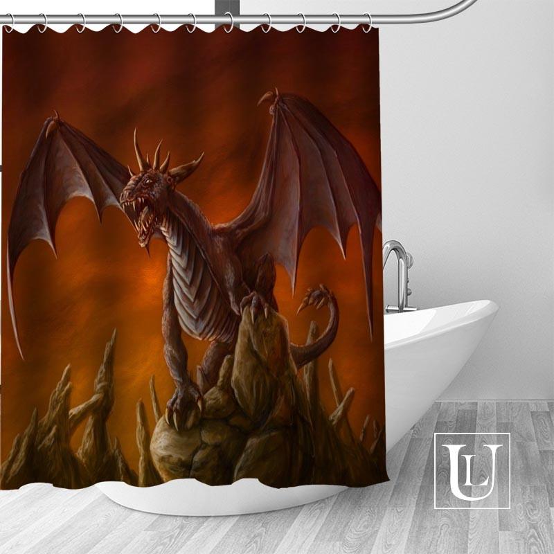 Dragón de cortina de ducha de tamaño más Cortina de ducha de tela impermeable de baño decoración Dropshipping. exclusivo.