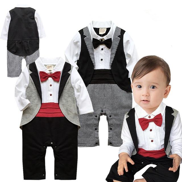 0eb9c24e1 Newborn Baby Boy Clothes Bow Tie Baby Boys Clothing Patchwork Cotton ...