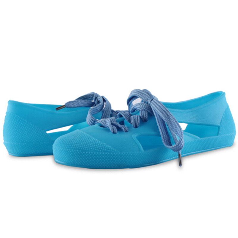 faa97f8a7c073 New Sandals Women Rubber Shoes Sandals Summer Cut Out Flats Sandals Fashion Rain  Shoes Girls Jelly Shoes Sandals Plus Size 36 41-in Women's Sandals from ...