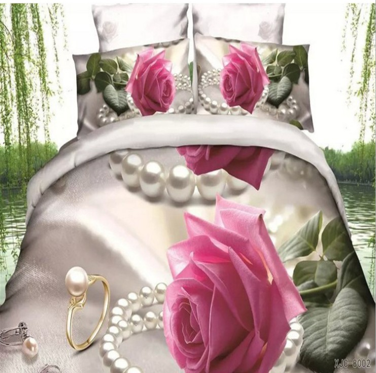 Roses Department Store 3d Pink Rose Comforter Set Bedding