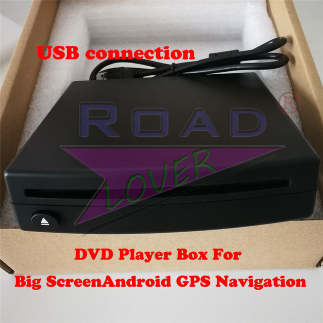 Roadlover External Car DVD Player Box For Big Screen Android Car GPS Navigation Radio Stereo Support Playing DVD CD Only