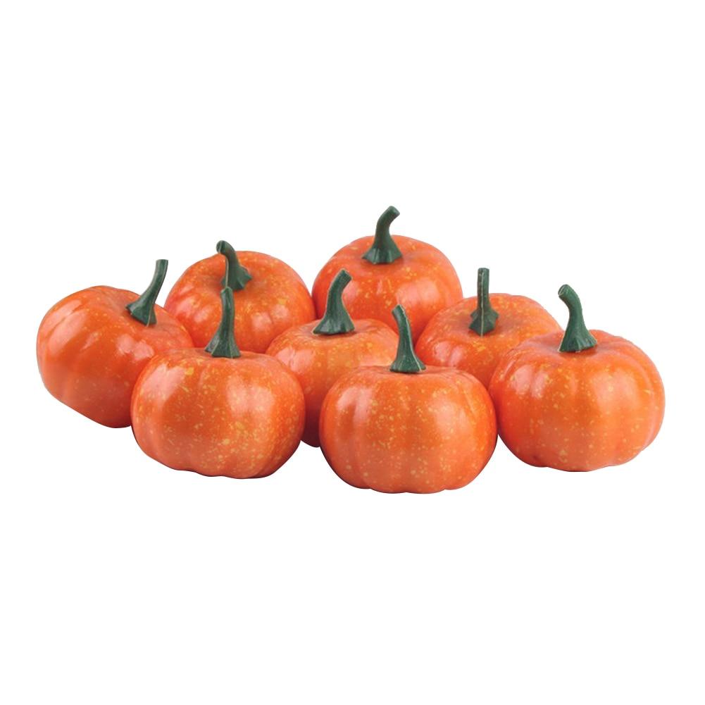 16 stücke Halloween Künstliche Gefälschte Mini Kürbis für Herbst Thanksgiving Garten Home Ernte Dekoration