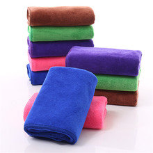 35X75CM Microfiber Fabric Face Towel Beauty Dry Hair Solid Soft Absorbent Men Women Bathroom Thicker Hand Towels 16 Color