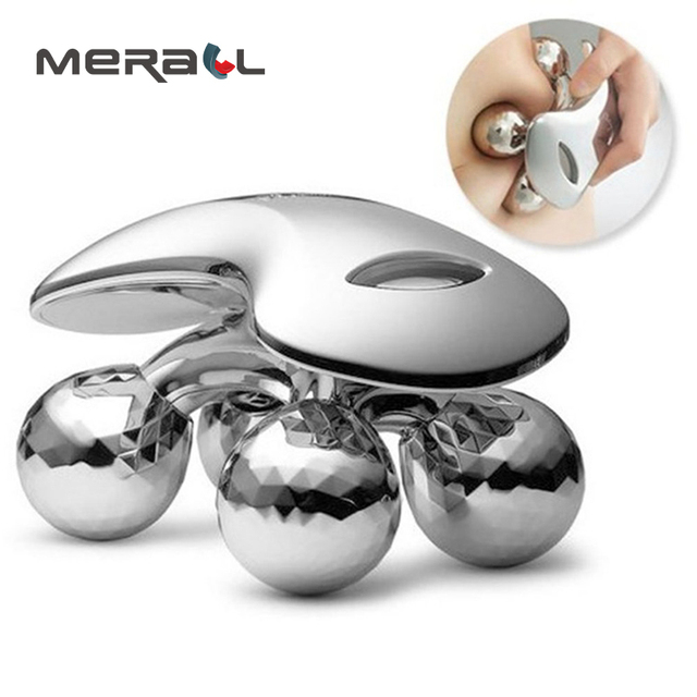 4D Rolling Wheel Face Slimming Massager Organ V Shape Face Silver Back Massage Relieve Fatigue Health Care Hot Sale Instrument