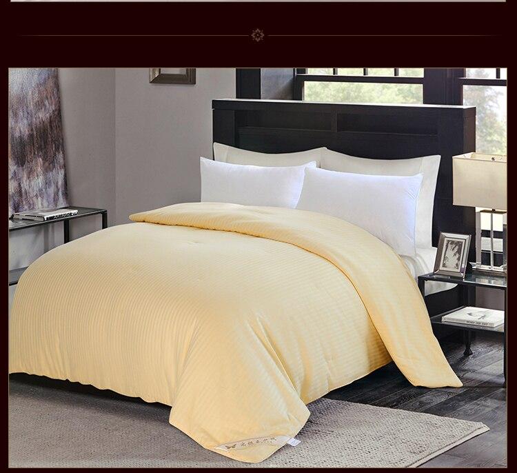 High Grade Winter Chinese 100%Long Mulberry Silk Quilt Quality Handmade 4 Season Silk Comforter Blankets 100%Cotton Fabric Cover