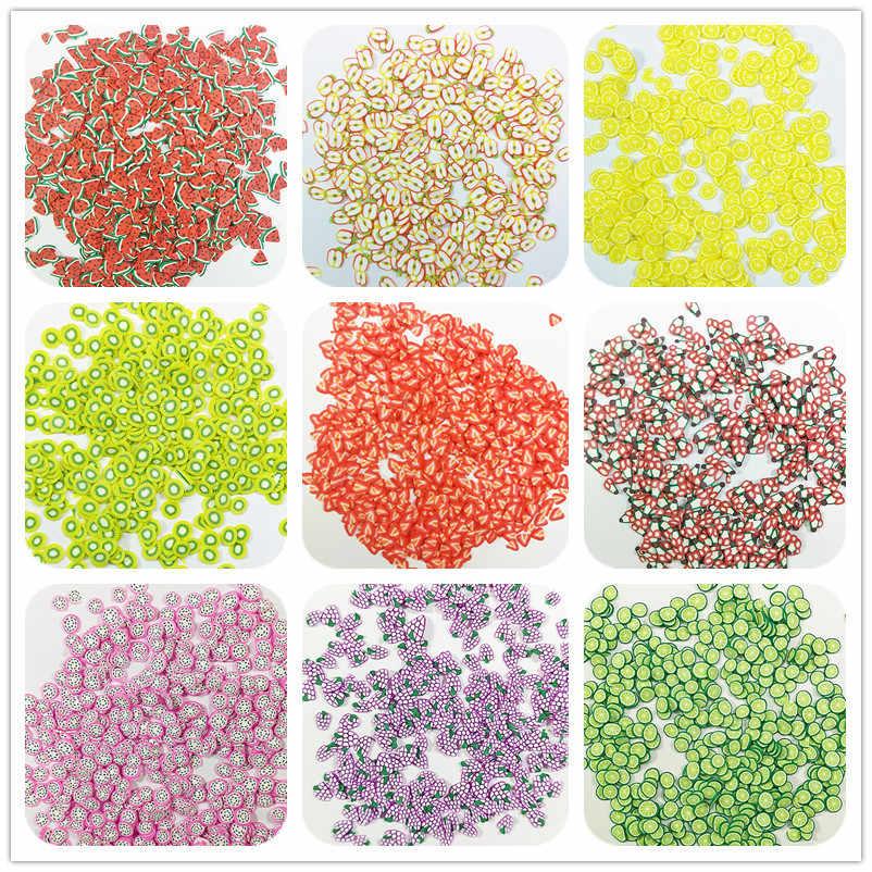 10g Fruit Slice Slime Clay Sprinkles Filler Supplies Lemon kiwifruit for DIY Nail Beauty Decoration Toys for Children Kids