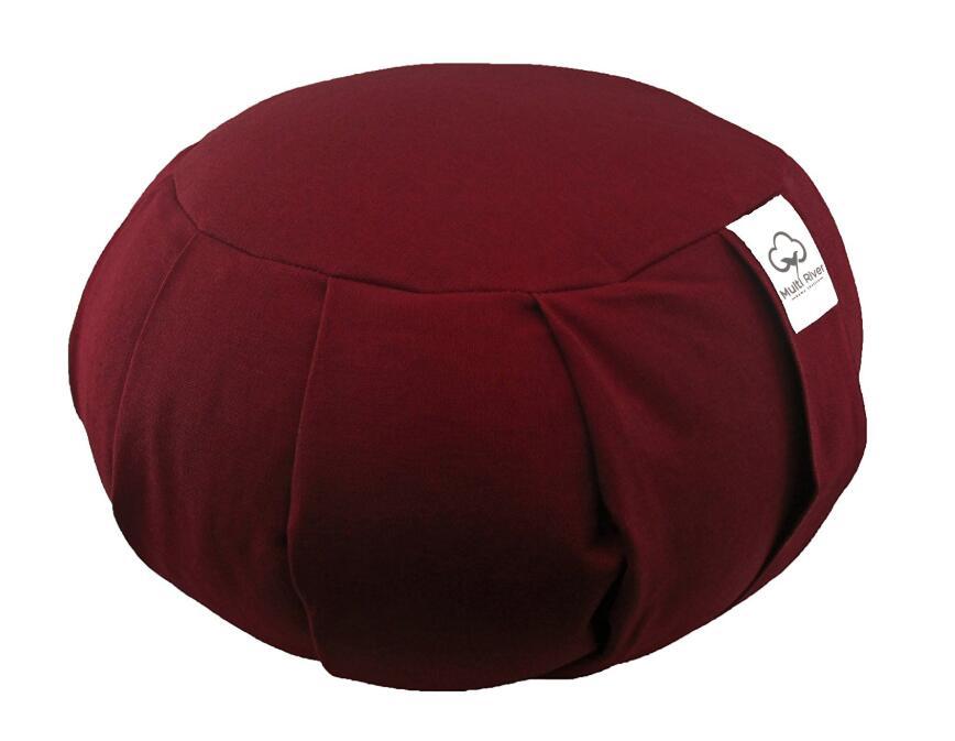 Buckwheat Hull Filled Zafu Round Meditation Yoga Cushion With Zippered Cushion Comfort Floor Seat Furniture Seating Futon Pillow