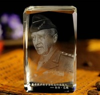 2017 Christmas festival BEST present World War II general George Smith Patton 3D Crystal Image Decoration