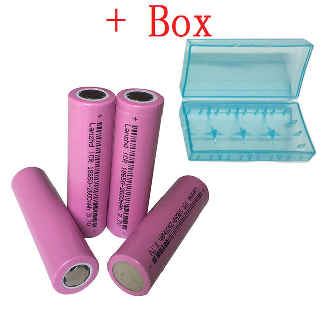 batteries 18650 Battery Original 18650 Rechargeable Battery 2600mAh Li-ion 3.7v battery for flashlight 4PCS/lot