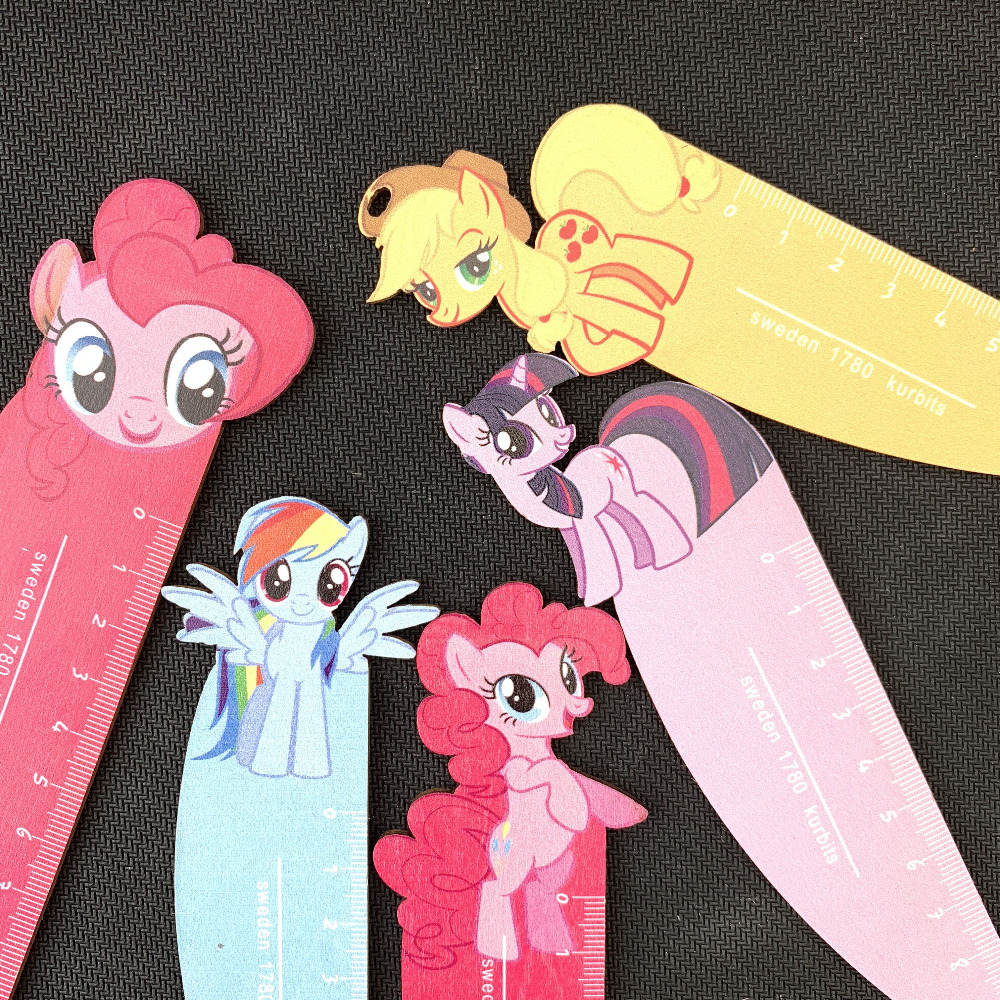 1PC Candy Horse Wooden Straight Ruler Measure Study Drawing Student Stationery School Office Supply Gift