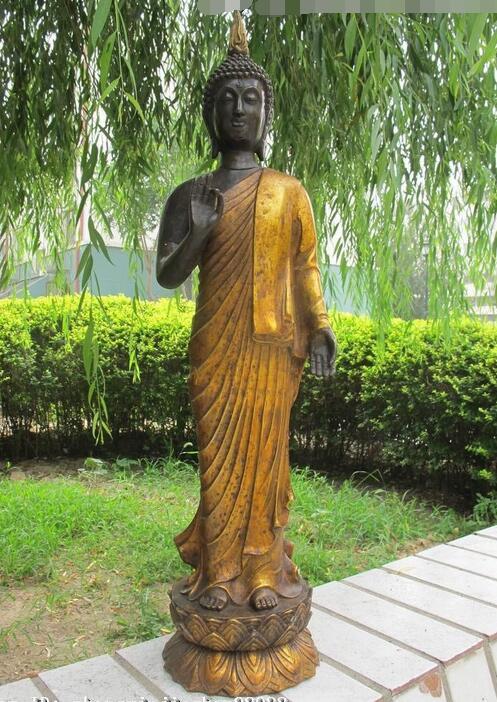 Bouddhisme tibétain Bronze populaire thaïlande Ayutthaya Shakyamuni statue de bouddha