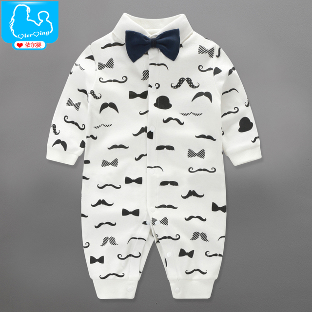 921cb96685b05 US $12.9 |Baby conjoined clothes spring and autumn season neonatal cotton 0  3 6 months old full moon baby climbing clothes boy girl bath g-in Rompers  ...