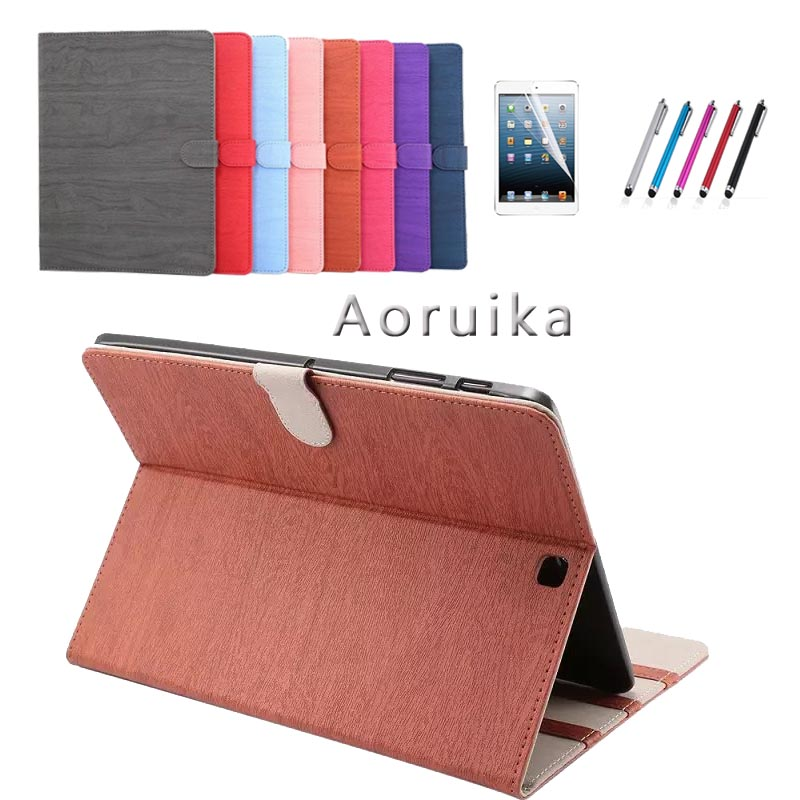 TAB S2 9.7 inch Tablet Cover Case For Samsung galaxy Tab S2 9.7 SM-T810 T815 Retro Fashion Wood PU Leather Original Folding case luxury pu leather cover case for samsung galaxy tab s2 9 7 t810 t815 sm t810 flip stand for samsung galaxy s2 t815 cases kf469a