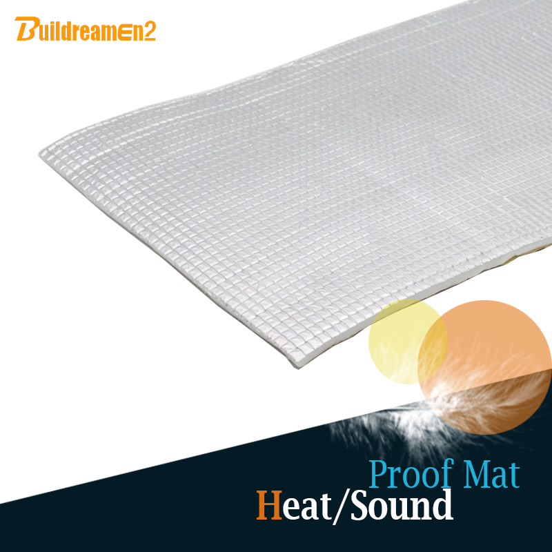 Buildreamen2 4 x 40 10CM x 100CM Car Heat Shield Sound Noise Proofing Insulation Mat Sheet Deadening Deadener Noise Control