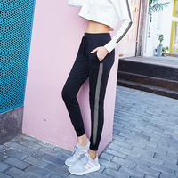 2017 Loose Women Casual Pants Quick Dry Fit Stitching Pants Fitness Trousers Workout Pants Female Slim