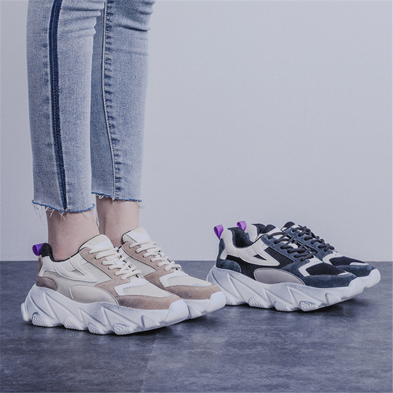 Platform Women Sneakers Fashion Thick Bottom Height Increasing 5CM Casual Chunky Shoes Chaussure Swing Slimming ShoesPlatform Women Sneakers Fashion Thick Bottom Height Increasing 5CM Casual Chunky Shoes Chaussure Swing Slimming Shoes