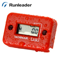 Runleader HM012 Digital Waterproof Tachometer Hour Meter For Motorcycle ATV Snowmobile Boat 2/4 Stroke Gas Engine