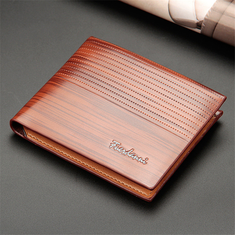 Vintage Men Leather Wallet Short Slim Male Purses Money Credit Card Holders Men Wallet Money Bag T002 Men Men's Bags Men's Wallets